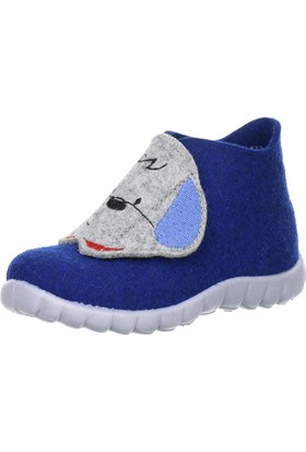 Super Fit Çocuk Ev Ayakkabısı Köpekli, Water Multi Wollfilz Happy Saks