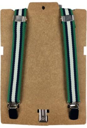 Karamela Çocuk Pantolon Askısı Yeşil Çizgili, 1011