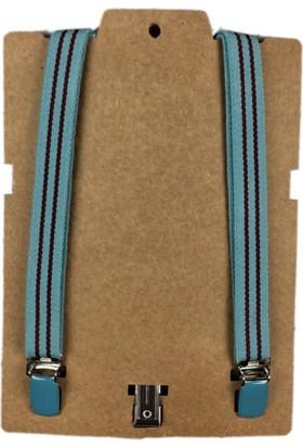 Karamela Çocuk Pantolon Askısı Mavi Çizgili, 1013