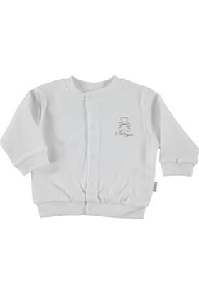 Baby Center Hırka Organik Beyaz