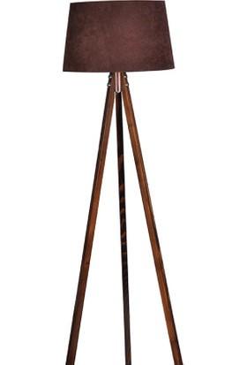 Ege Light 3 Ayaklı Ceviz Lambader Kahve Şapka