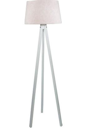 Lambada Delüx Serisi Üç Ayaklı Lambader Pudra / Beyaz