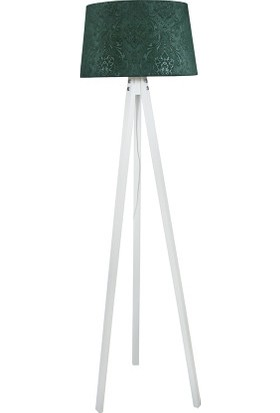 Lambada Delüx Serisi Üç Ayaklı Lambader Zümrüt Yeşil / Beyaz
