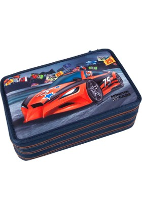 Monster Cars 3 Katlı Dolu Kalemkutu 8218