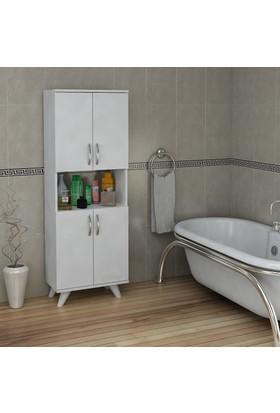 Pegai Nora 4 Kapak Raflı Banyo Dolabı