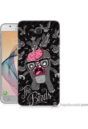 Teknomeg Samsung Galaxy J7 Prime Kılıf Kapak The Birds Baskılı Silikon