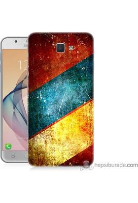 Teknomeg Samsung Galaxy J7 Prime Kapak Kılıf Renkli Metal Baskılı Silikon