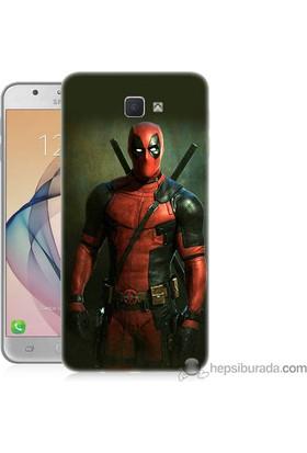 Teknomeg Samsung Galaxy J7 Prime Kapak Kılıf Deadpool Baskılı Silikon