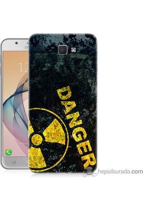 Teknomeg Samsung Galaxy J7 Prime Kapak Kılıf Tehlikeli Baskılı Silikon