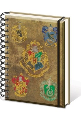 Pyramid International A5 Defter Harry Potter Hogwarts Crest & Four Houses Sr72083