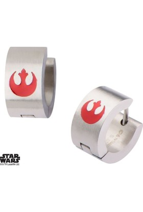 Body Vibe Star Wars Enamel Filled Rebel Logo Huggie Küpe