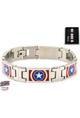 Body Vibe Marvel Captain America Color Logo Link Bileklik