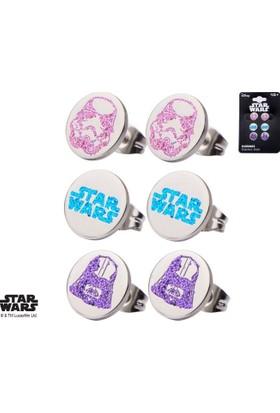 Body Vibe Star Wars Logo Darth Vader And Stormtrooper Tween Stud Küpe Seti