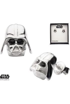 Body Vibe Star Wars Darth Vader 3D Stud Gümüş Küpe
