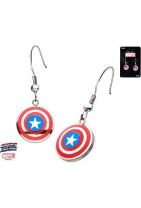 Body Vibe Marvel Captain America Shield Logo Renkli Küpe Seti