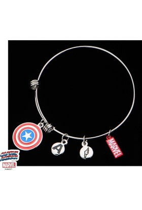 Body Vibe Marvel Captain America Logo Charms Bilezik
