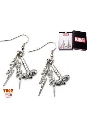 Body Vibe Marvel Thor Hammer & Lightning Dangle Küpe