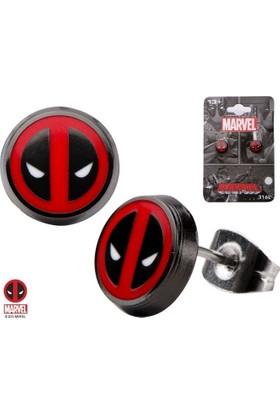 Body Vibe Marvel Deadpool Düğme Küpe Seti
