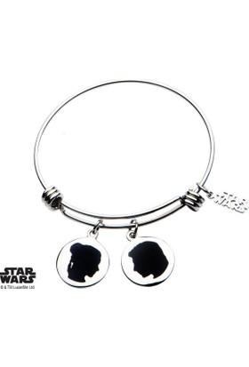 "Body Vibe Star Wars Han Solo And Princess Leia ""I Love You. I Know"" Charm Ayarlanabilir Bilezik"