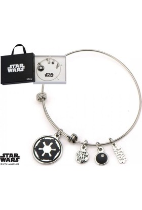 Body Vibe Star Wars Galactic Empire Symbol Charm Ayarlanabilir Bilezik