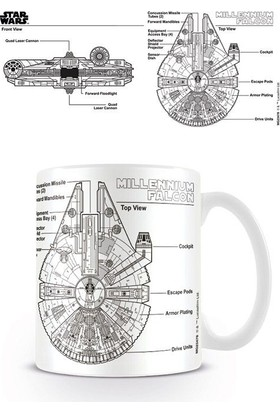 Pyramid International Kupa Bardak Star Wars Millennium Falcon Sketch