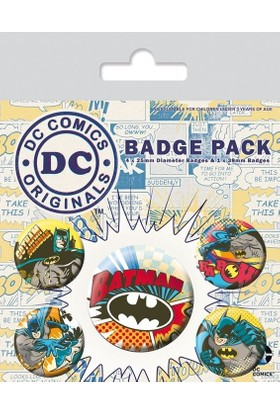 Pyramid International Rozet Seti Dc Originals Batman Comic Capers