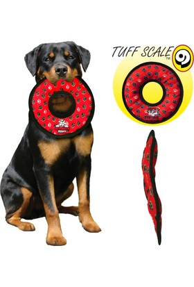Tuffy Ultimate Ring Yellow Bone Kemik Desenli Peluş Halka Şeklinde Köpek Oyuncağı Sarı
