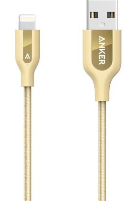 Anker PowerLine+ Lightning 0.9 Mt Örgülü Apple Lisanslı iPhone iPad Kablo - Taşıma Çantalı