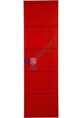 Kanguru Metal Ayakkabılık Kanguru 5 li Delikli Kırmızı 3020