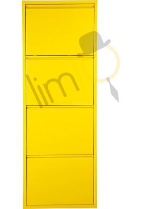 Lim10 Metal Ayakkabılık Lim10 4 lü Gold Sarı 1019
