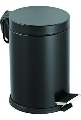 Hiper Mikro 3 Pedallı Renkli Çöp Kovası - Siyah
