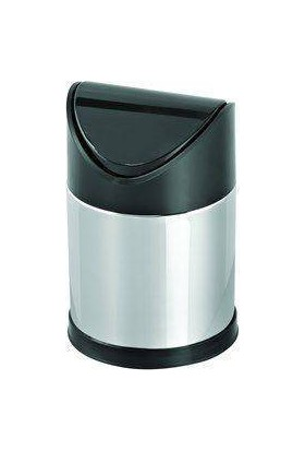 Hiper Sallanır Siyah Kapak Çöp Kovası - 12 Lt