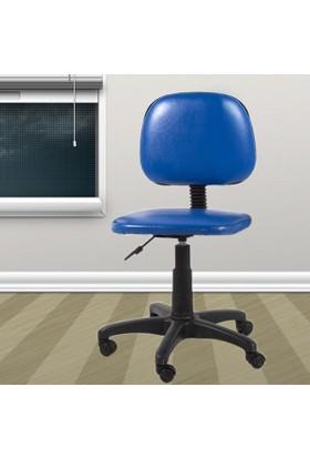 Depolife Kolsuz Ofis Koltuğu Sandalye Mavi