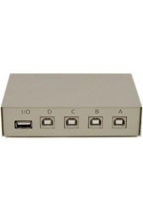 Maıtuo Mt-1A4B-C 4 Pc 4 Port Manuel Usb2.0 Switch Box