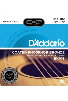 Daddarıo Exp16 Akustik Tel Set 012 Coated Light(.012) Xp16