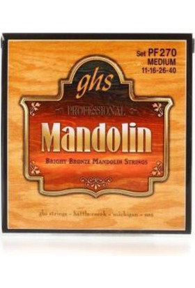Ghs Pf270 Mandolin Teli - Made İn Usa