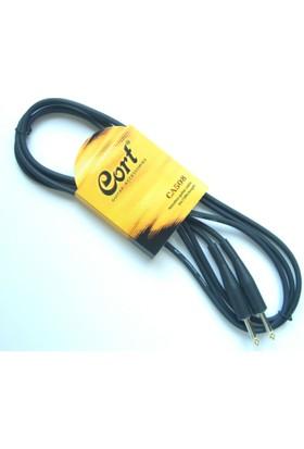 Cort Ca508 Gitar Kablosu Gürültüsüz 3 M Siyah