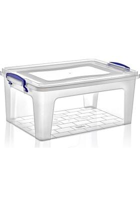 Dünya Plastik 15 lt Derin Clear Box Saklama Kutusu