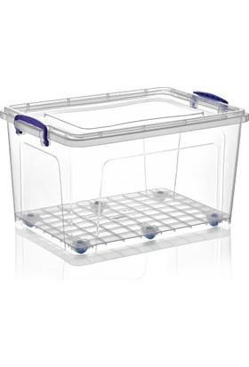 Dünya Plastik 42 lt Derin Clear Box Saklama Kutusu