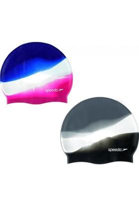 Speedo Multi Colour Silicone Cap Unisex Bone