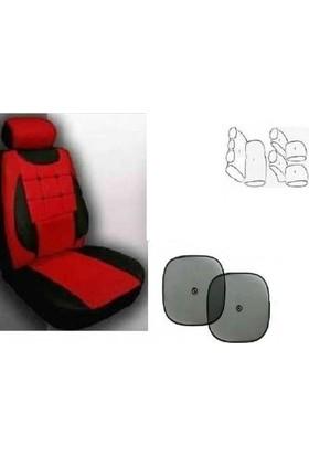 Koltuk Kılıfı Seti Ön- Arka Komple Takım Yan Cam Perde Hediyeli Volkswagen Caddy