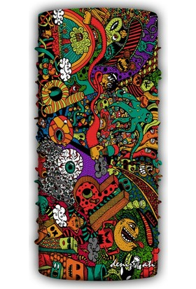 Denizatı Doodle Desenli Bandana