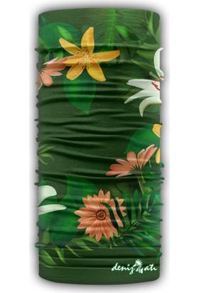 Denizatı Çiçek Desenli Bandana