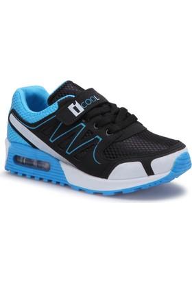 İ Cool Andreas Siyah Mavi Erkek Çocuk Sneaker Ayakkabı