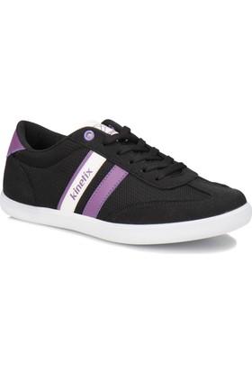Kinetix Camile Siyah Mor Kadın Sneaker