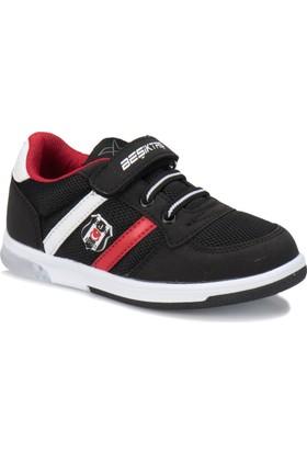 Kinetix Upton BJK Siyah Beyaz Kırmızı Erkek Çocuk Sneaker Ayakkabı