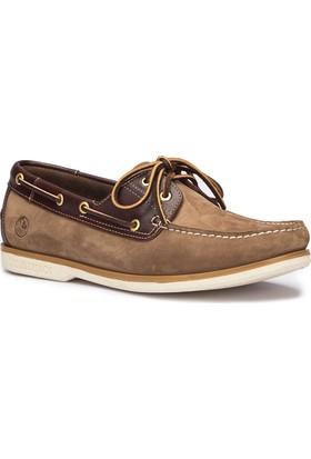 Lumberjack Navigator Nub Kum Rengi Kahverengi Beyaz Erkek Deri Ayakkabı