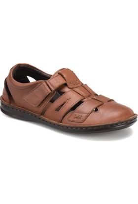 Polaris 71.156851.M Taba Erkek Deri Sandalet