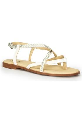 Polaris 71.310169.Z Beyaz Kadın Sandalet