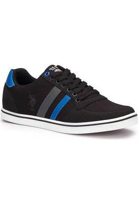U.S. Polo Assn. Reggie Siyah Erkek Sneaker Ayakkabı